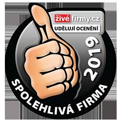 Certifikát Spolehlivá firma z portálu zivefirmy.cz